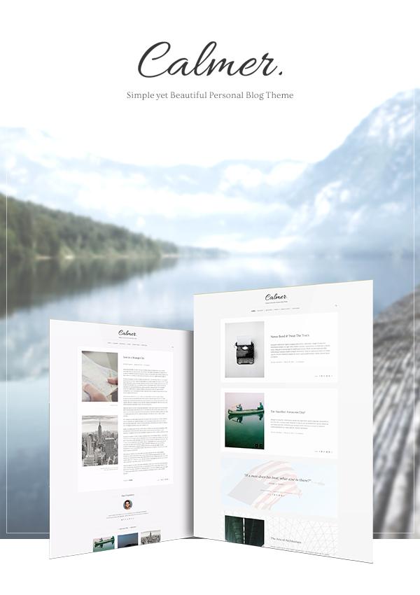 Calmer WordPress Blog Theme Presentation Cover