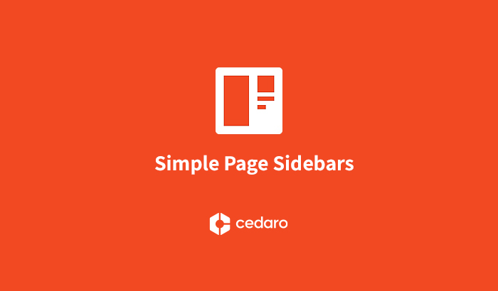 Create custom sidebars for pages